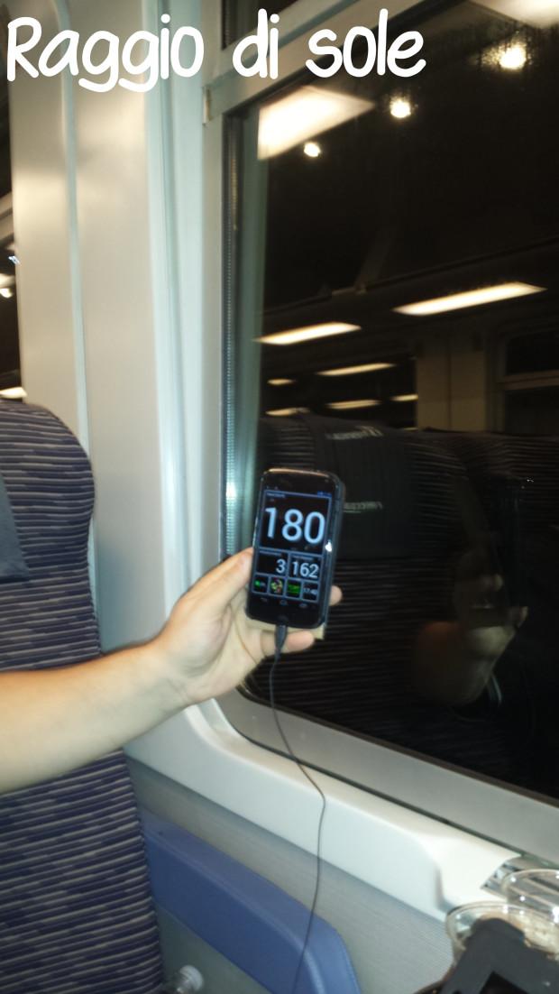 Velocità in Km/h sul Frecciabianca